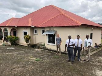 Elders Pyrah, Moyo, Mbuva and Iyalla at the Douda Town Apt