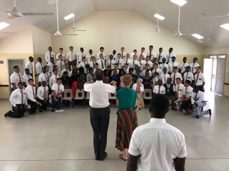 A practice picture of all the missionaries in Bo and Kenema