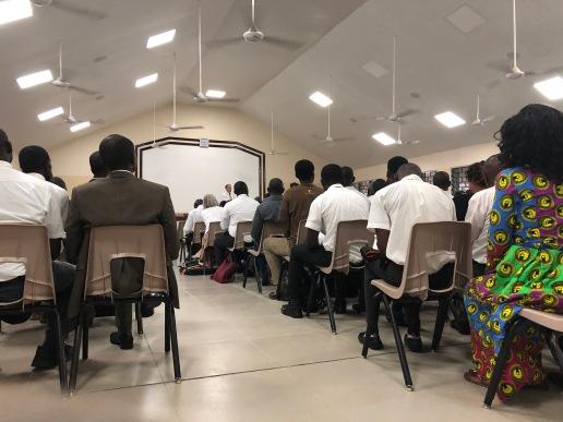 Elder Nash instructs the missionaries
