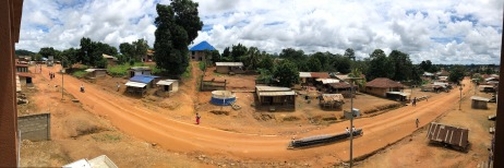 A panoramic view from the missionaries apartment balcony