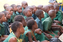 Children listening with great interest