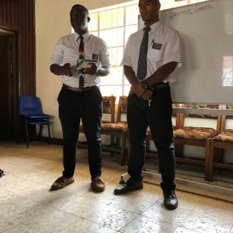 Elder Adjety (left) and Elder Holi (right)