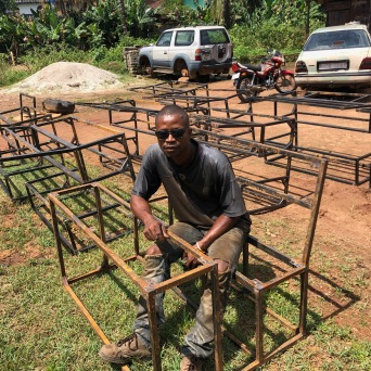 Steel frames in process