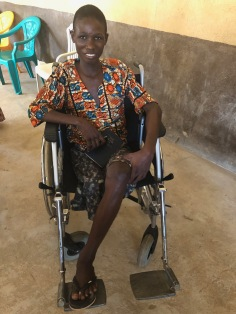 Ishmael after receiving his new wheelchair